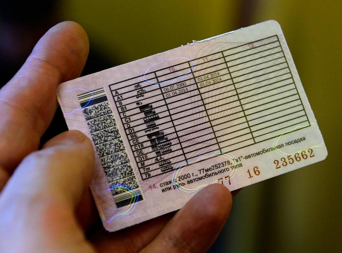 Срок действия водительского удостоверения