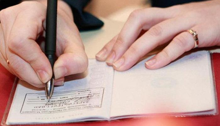 Обязательные отметки в паспорте