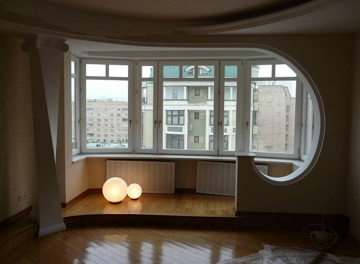 Присоединение балкона к помещению