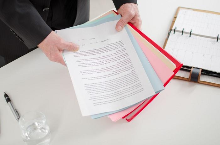 Направление пакета документов