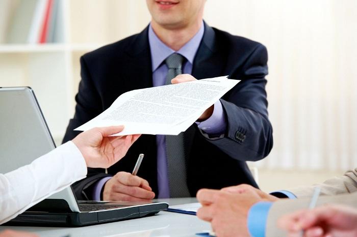 Подача документов в СК