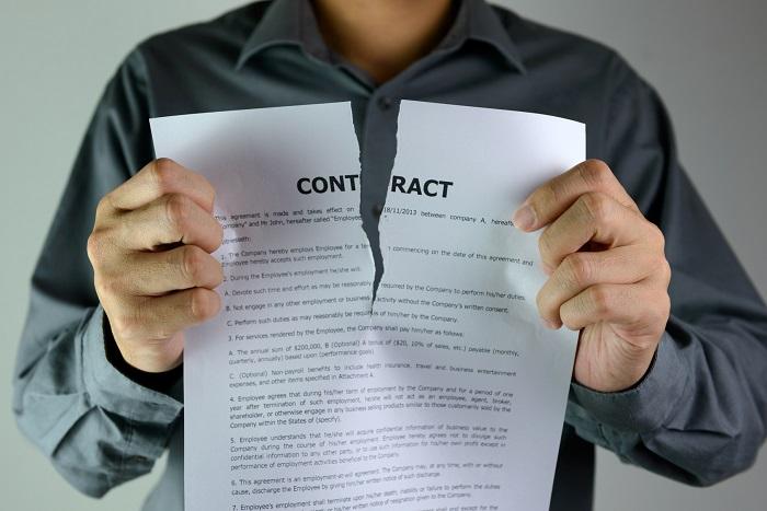 Причины досрочного расторжения договора